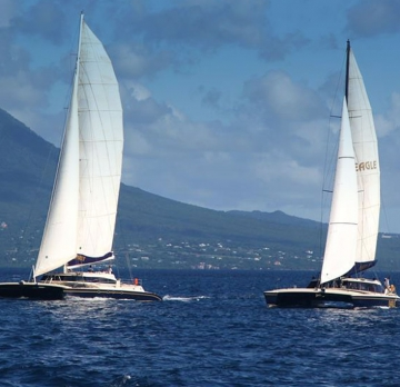 Catamaran Party Cruise to Nevis